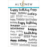 Altenew - Clear Acrylic Stamps - Birthday Builder