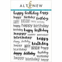 Altenew - Clear Photopolymer Stamps - Birthday Builder