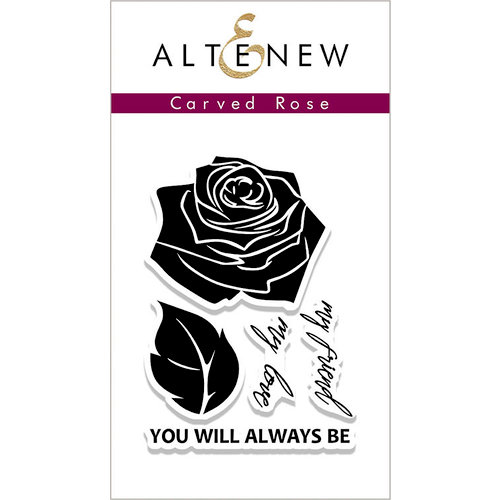 Altenew - Clear Photopolymer Stamps - Carved Rose