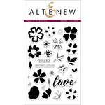 Altenew - Clear Acrylic Stamps - Heart Flowers