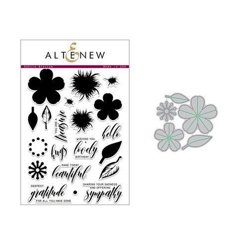 Altenew - Die and Clear Acrylic Stamp Set - Build A Flower - Sakura Blossom