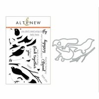Altenew - Die and Clear Acrylic Stamp Set - Birds of a Feather
