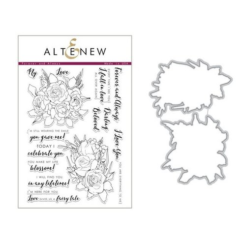 Altenew - Die and Clear Acrylic Stamp Set - Forever and Always
