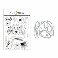 Altenew - Die and Clear Acrylic Stamp Set - Happy Bloom