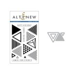 Altenew - Die and Clear Acrylic Stamp Set - Trigonometry