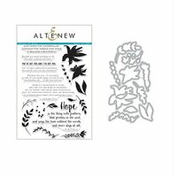 Altenew - Die and Clear Acrylic Stamp Set - Wings of Hope