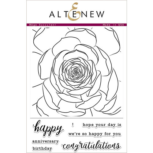 Altenew - Clear Photopolymer Stamps - Mega Succulent