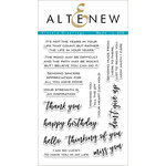 Altenew - Clear Acrylic Stamps - Sincere Greetings