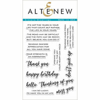 Altenew - Clear Photopolymer Stamps - Sincere Greetings