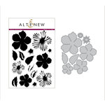 Altenew - Die and Clear Acrylic Stamp Set - Build A Flower - Peony Blossom