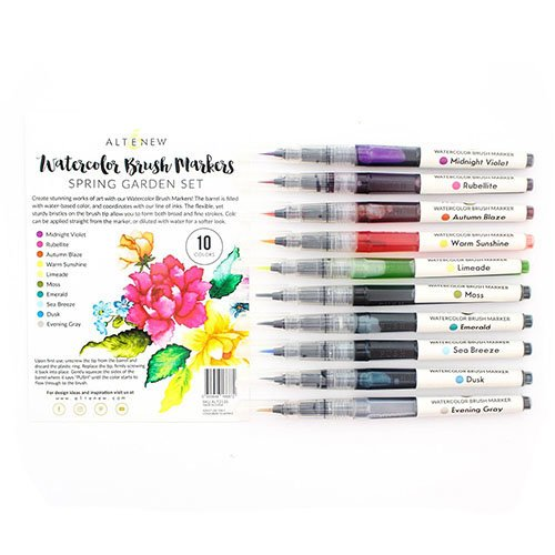 Watercolor Brush Markers - Spring Garden Set
