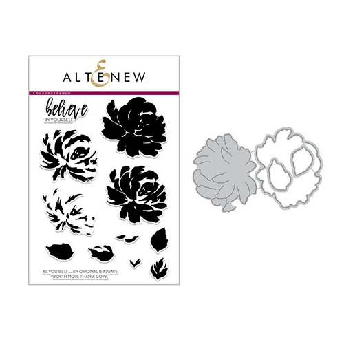 Altenew - Die and Clear Acrylic Stamp Set - Build A Flower - Chrysanthemum
