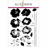 Altenew - Clear Photopolymer Stamps - Strength Blooms