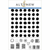 Altenew - Clear Photopolymer Stamps - Watercolor Dots