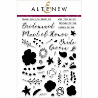 Altenew - Clear Photopolymer Stamps - Bride To Be