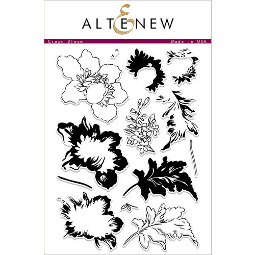 Altenew - Clear Photopolymer Stamps - Crown Bloom