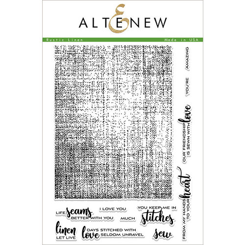 Altenew - Clear Photopolymer Stamps - Rustic Linen
