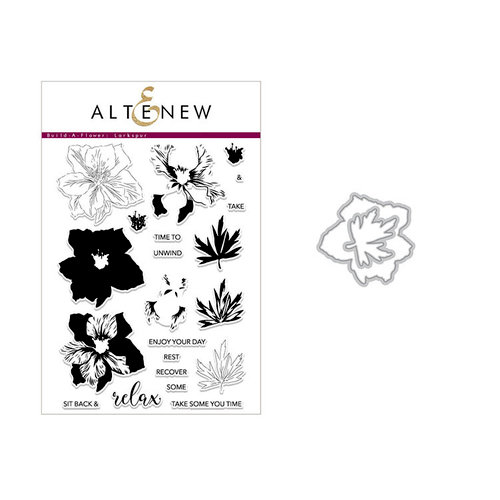 Altenew - Die and Clear Acrylic Stamp Set - Build A Flower - Larkspur