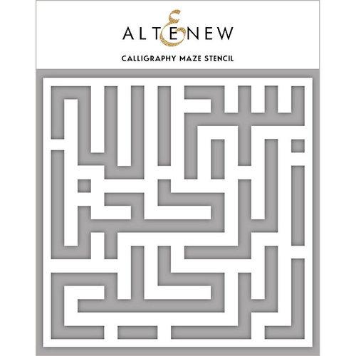 Altenew - Stencil - Calligraphy Maze