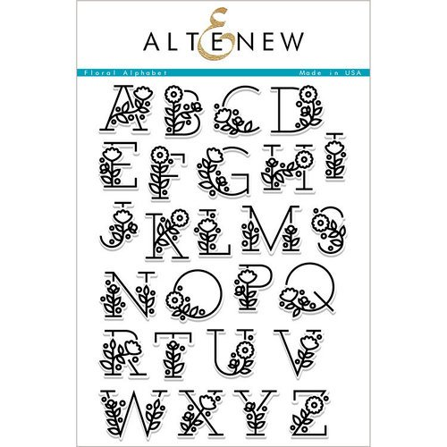Altenew - Clear Photopolymer Stamps - Floral Alphabet