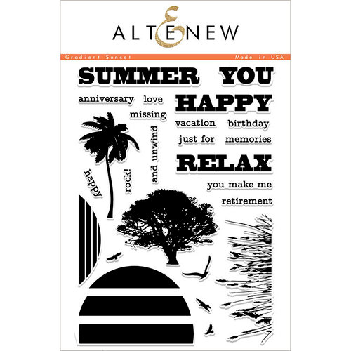 Altenew - Clear Photopolymer Stamps - Gradient Sunset