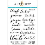 Altenew - Clear Photopolymer Stamps - Thanks Around the World