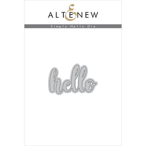 Altenew - Dies - Simply Hello