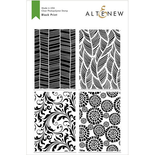 Altenew - Clear Photopolymer Stamps - Block Print