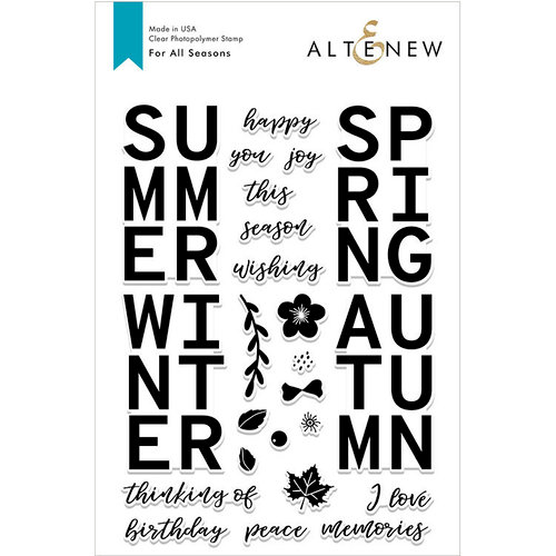Altenew - Clear Photopolymer Stamps - For All Seasons