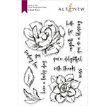 Altenew - Clear Photopolymer Stamps - Inked Flora