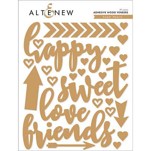 Altenew - Sweet Hearts - Adhesive Wood Veneers