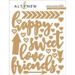 Altenew - Sweet Hearts - Adhesive Wood Veneers