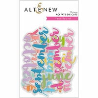 Altenew - Year-Round - Die Cut Acetate Pieces