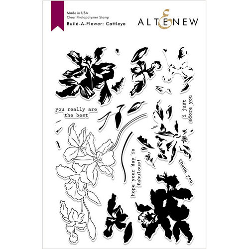 Altenew - Die and Clear Acrylic Stamp Set - Build A Flower - Cattleya