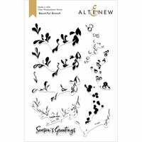 Altenew - Christmas - Clear Photopolymer Stamps - Bountiful Branch