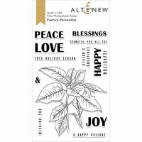Altenew - Christmas - Clear Photopolymer Stamps - Festive Poinsettia