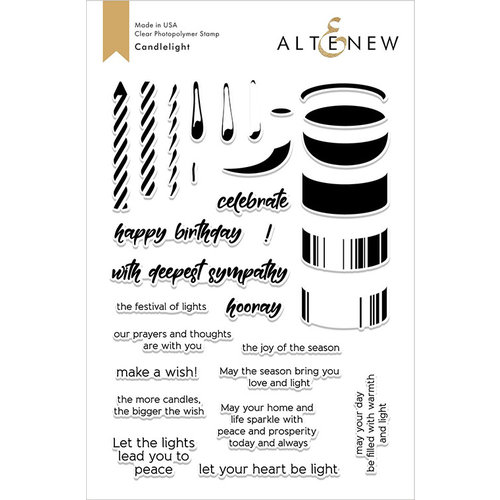 Altenew - Clear Photopolymer Stamps - Candlelight