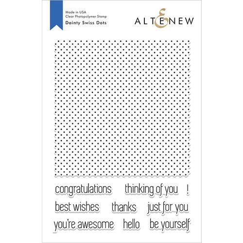 Altenew - Clear Photopolymer Stamps - Dainty Swiss Dots