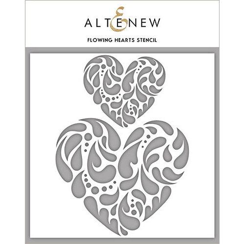 Altenew - Stencil - Flowing Hearts