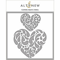 Altenew - Stencil - Flowing Hearts