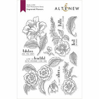 Altenew - Clear Photopolymer Stamps - Engraved Flowers