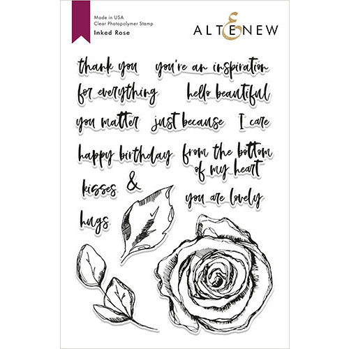 Altenew - Clear Photopolymer Stamps - Inked Rose