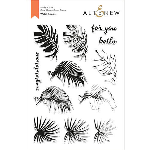 Altenew - Clear Photopolymer Stamps - Wild Ferns