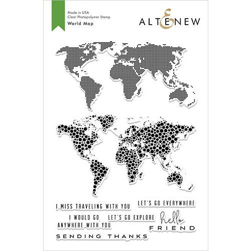 Altenew - Clear Photopolymer Stamps - World Map