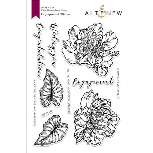Altenew - Clear Photopolymer Stamps - Engagement Wishes