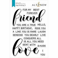 Altenew - Clear Photopolymer Stamps - Mega Greetings 3