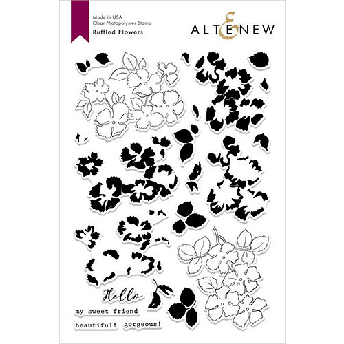 Altenew - Clear Photopolymer Stamps - Ruffled Flowers