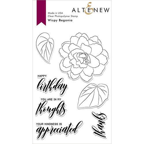 Altenew - Clear Photopolymer Stamps - Wispy Begonia