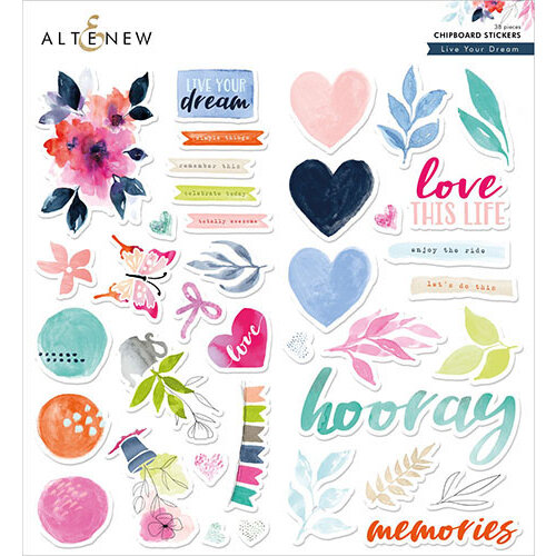 Altenew - Chipboard Stickers - Live Your Dream