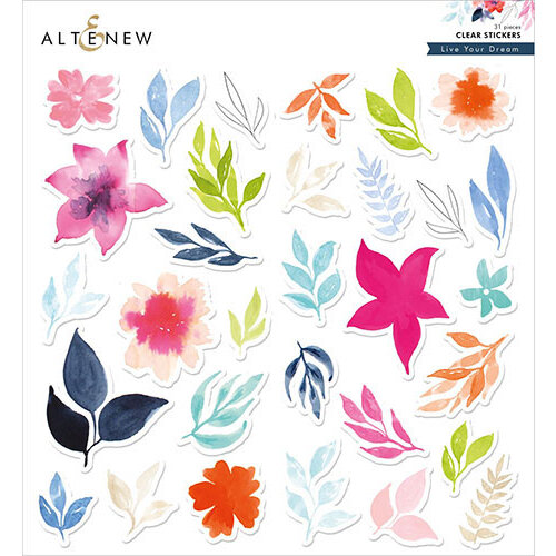 Altenew - Clear Stickers - Live Your Dream